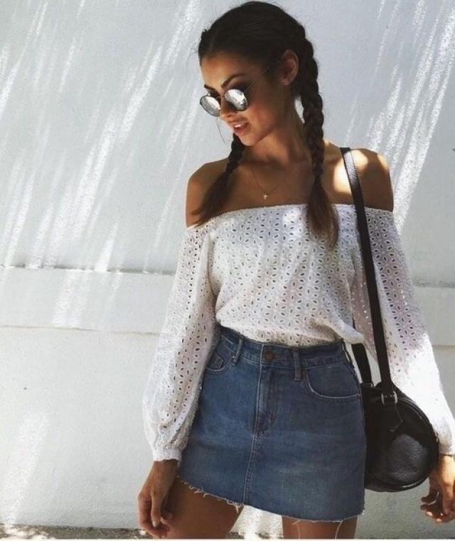 Beautiful denim skirt! do you like it? let me know in the comments!❤️❤️❤️❤️❤️❤️❤️❤️❤️                   …