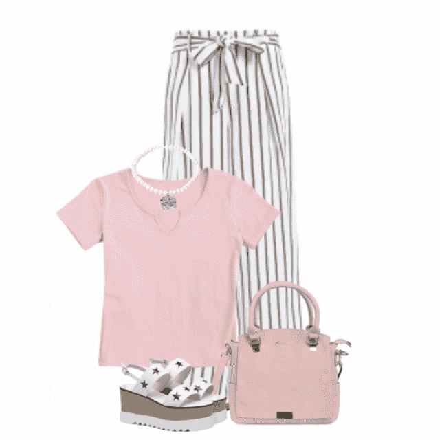 #summer #striped #white #pink