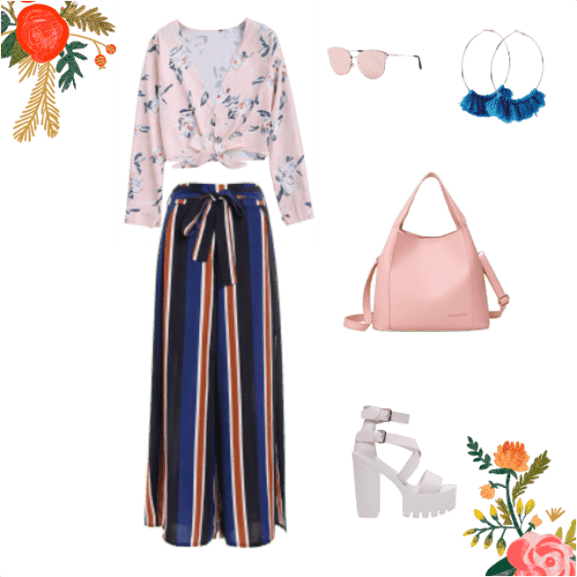 this is a summer, spring outfit. I have combined dark under toned and light under toned colours together to get a more