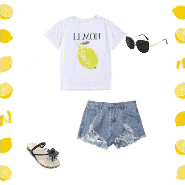 lemons all day everyday  sunglasses go with every look