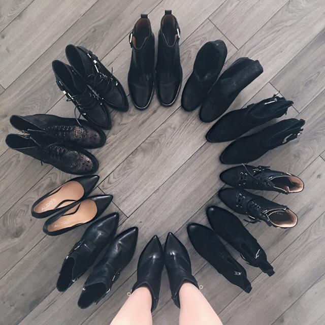 In love with black shoes