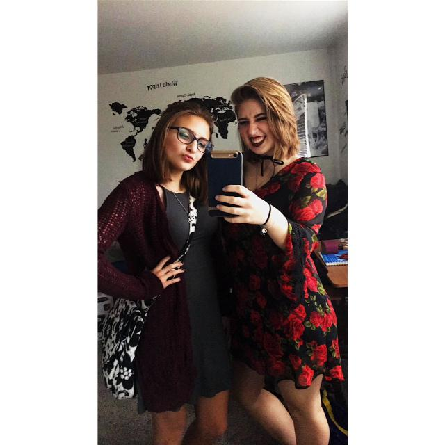 my favorite outfit and my best friend! We killed that party!