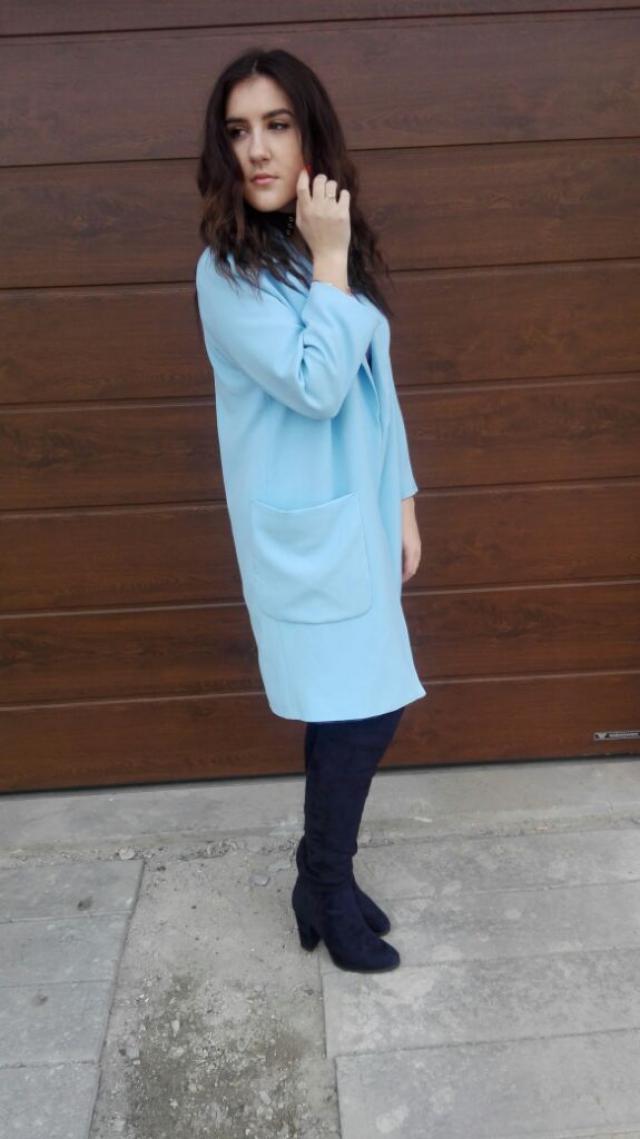 #blue #coat #fashion #style