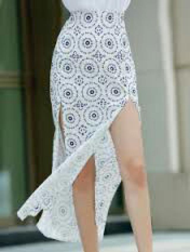 High Slit High Waisted Printed Skirt