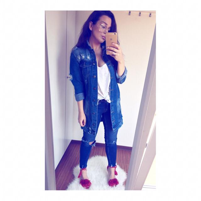 #DENIMLOVE #zafulgirl #zafuljacket #denim #zaful #lovejeans #jeans #lovedenim #denimlove #rippedjeans