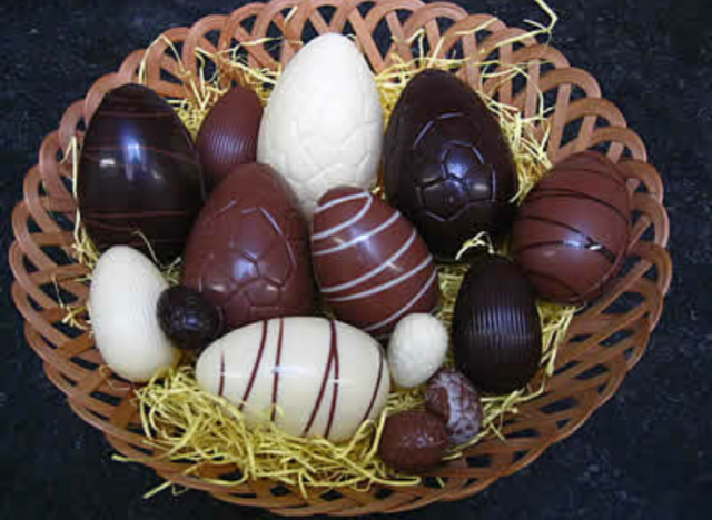 Happy easters as sweet as these chocolate eggs