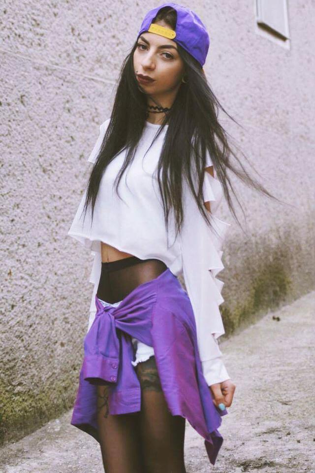 White and purple, my today's outfit and new post on my blog -> klaravanpure.blogspot.com