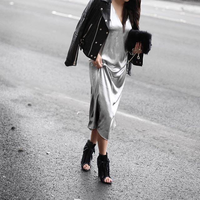 I love this outfit! #theaversastyle #amazing #ootd #love #likeme #likeforlike #followme #f4f #l4l #dress #silver #style
