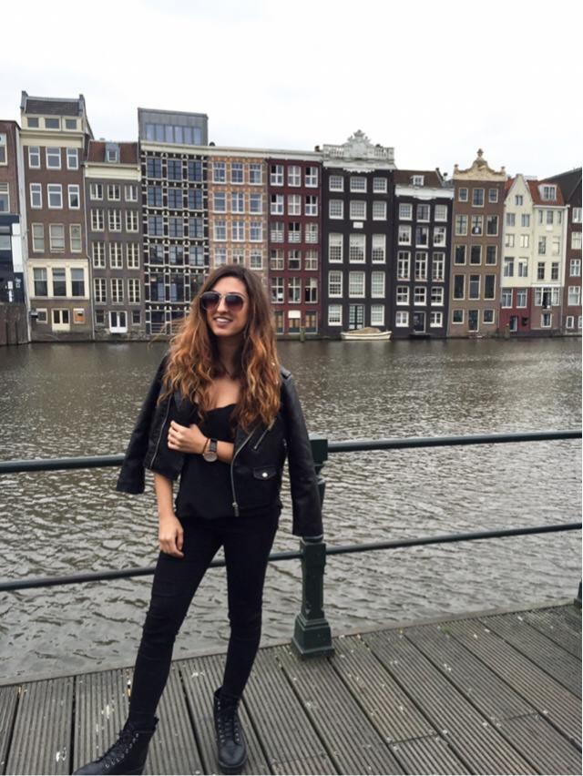 #travel #amsterdam #leatherjacket #fashion