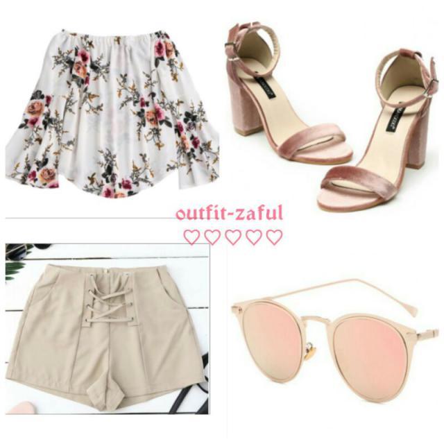 shoes: 42,99 $ http://www.zaful.com/block-heel-velvet-ankle-strap-sandals-p_267983.html  sunglasses: 6,81 $ http:/…