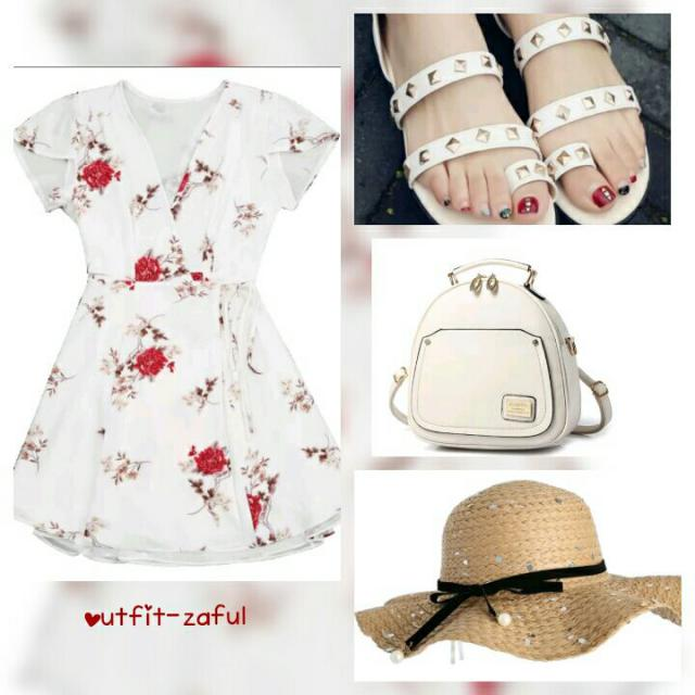 La tenue idéal pour l été ♡♡♡♡♡  #red #floral #summer #zaful #3anniv #outfit #rouge #smile #fashion