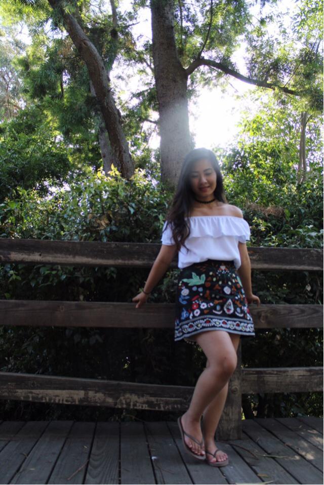 #ootd #outfit #embroidery #floralprint #likeforlike #ttil #zafulhits #summer2017 #offtheshoulder