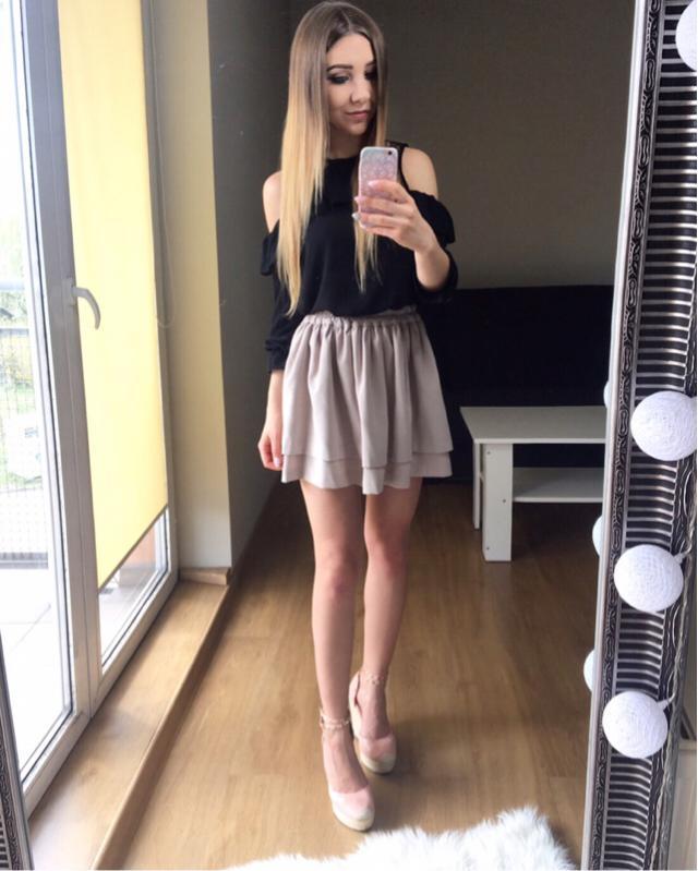 #polishgirl #black #beige #style