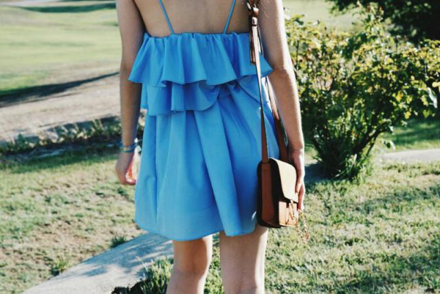 Perfect dress and perfect bag!
