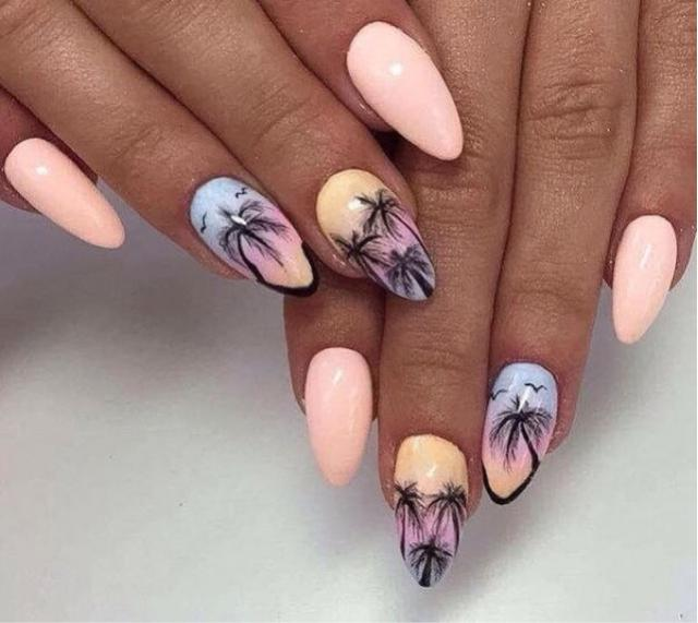 Palm Print Nail Art. Do you like it?